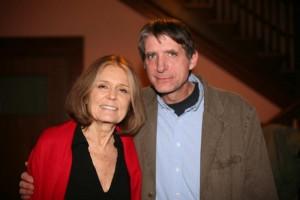John Seyfried poses with Gloria Steinem