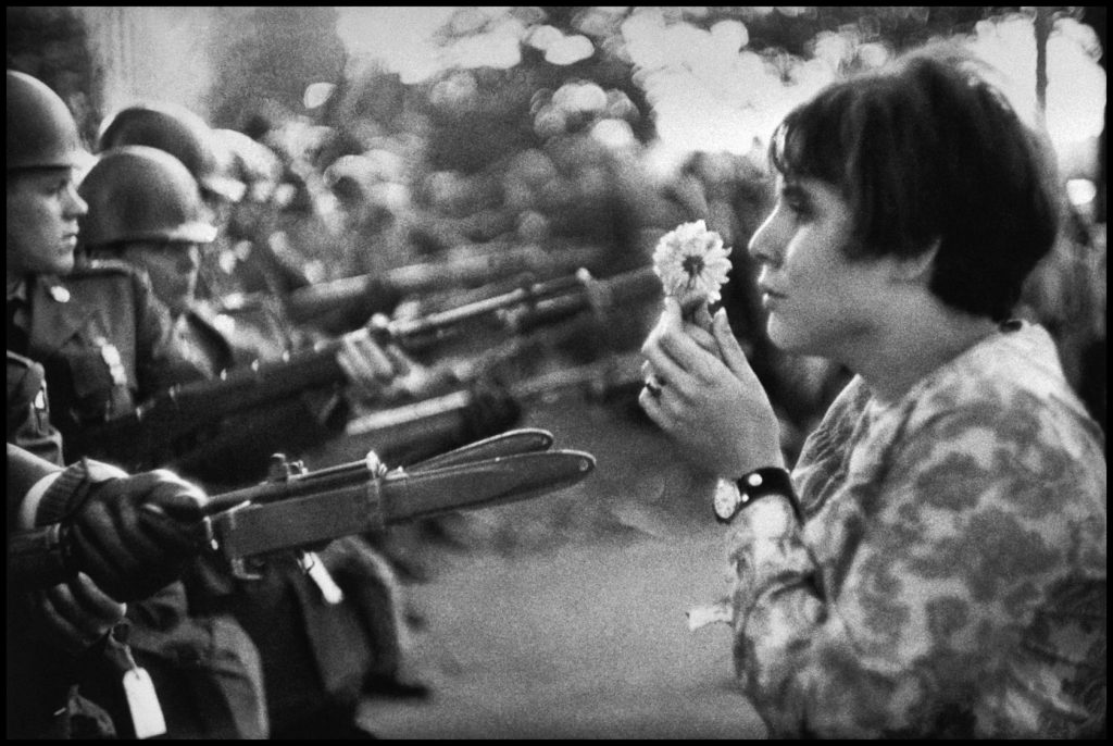 ©Marc Ribound - Magnum Photos USA. Washington DC. 1967. This image in particular became a symbol of the flower power movement.