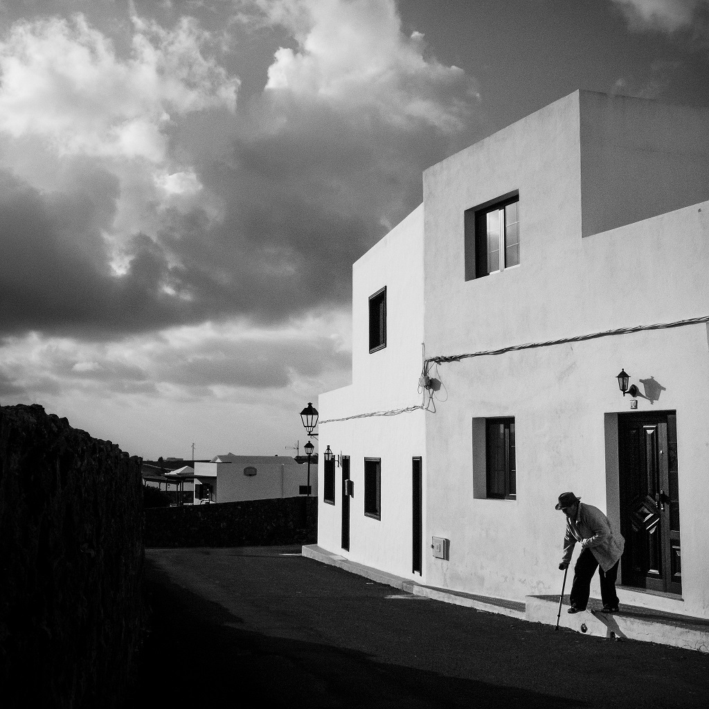 Street scene in the village of Teguise on the Canary Island Lanzarote.