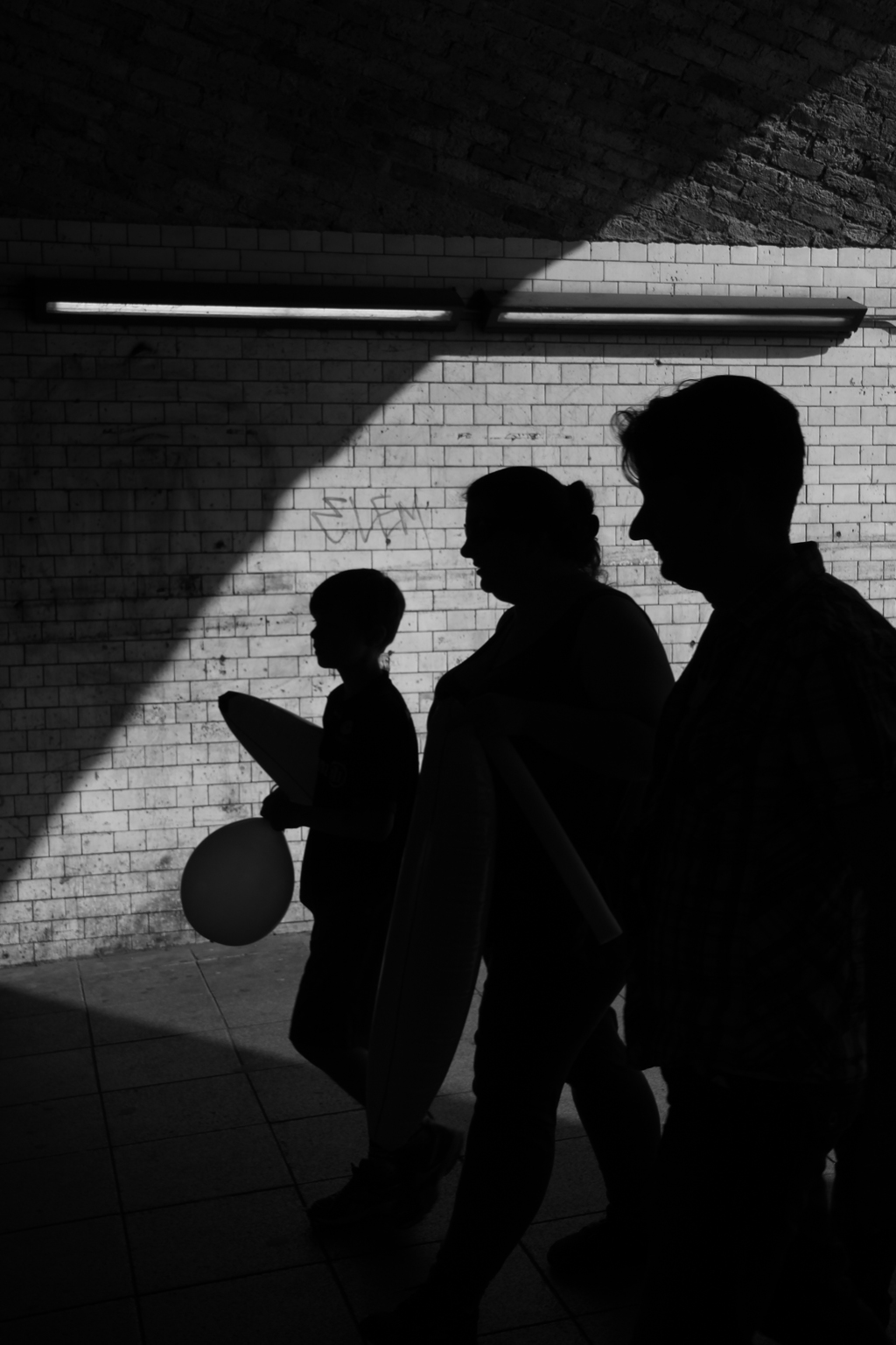 Shot in an underpass near Waterloo Station, London, I took dozens of photographs before this one presented itself. I like to project a sense of mystery in my photographs and this is no exception, calling it Bloodline to represent family, along with its linear composition.