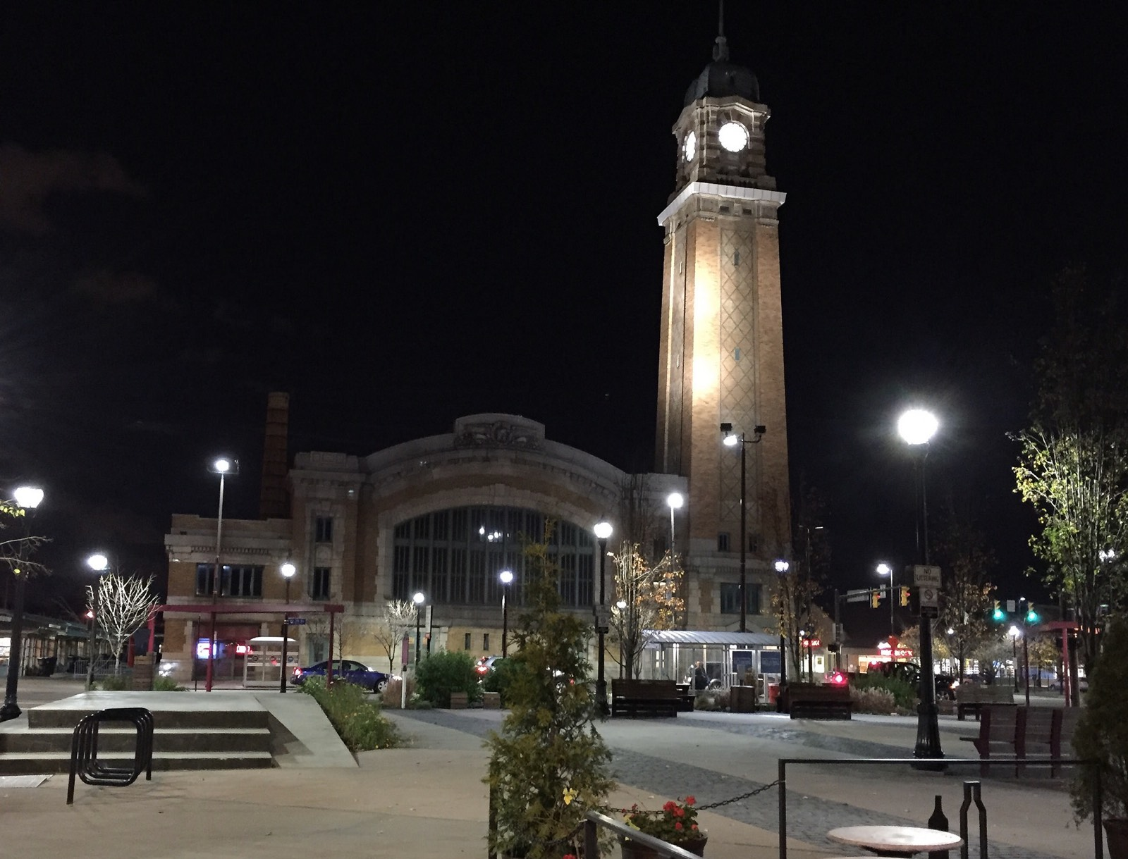 Cleveland's West Side Market at night